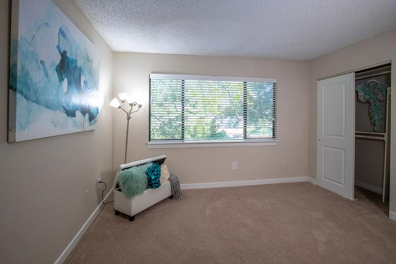 Master Bedroom | Guest bedrooms featuring spacious closets with built-in organizers.