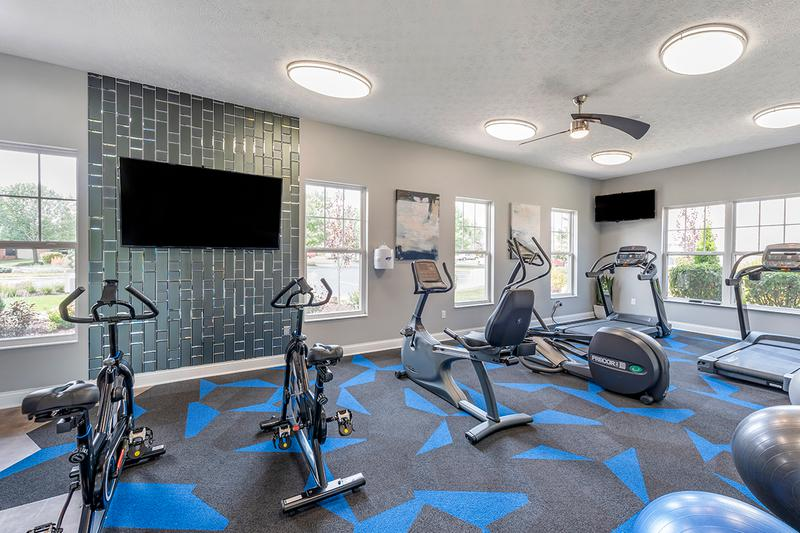Newly Renovated Fitness Center | Get fit in our newly renovated fitness center featuring cardio and weight training equipment.