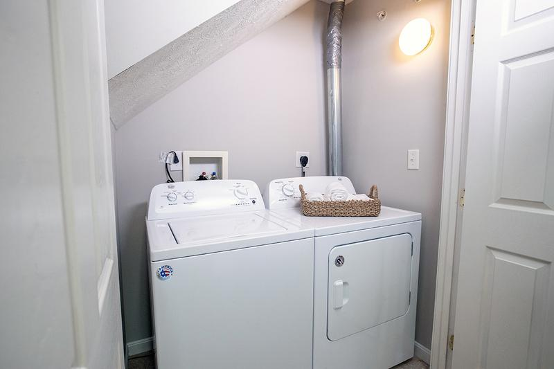 Washer & Dryer | Full size washer and dryer appliances included.