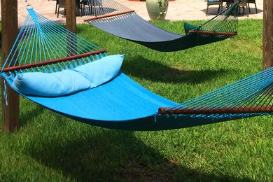 Hammock Garden | Lay out in our hammock garden.