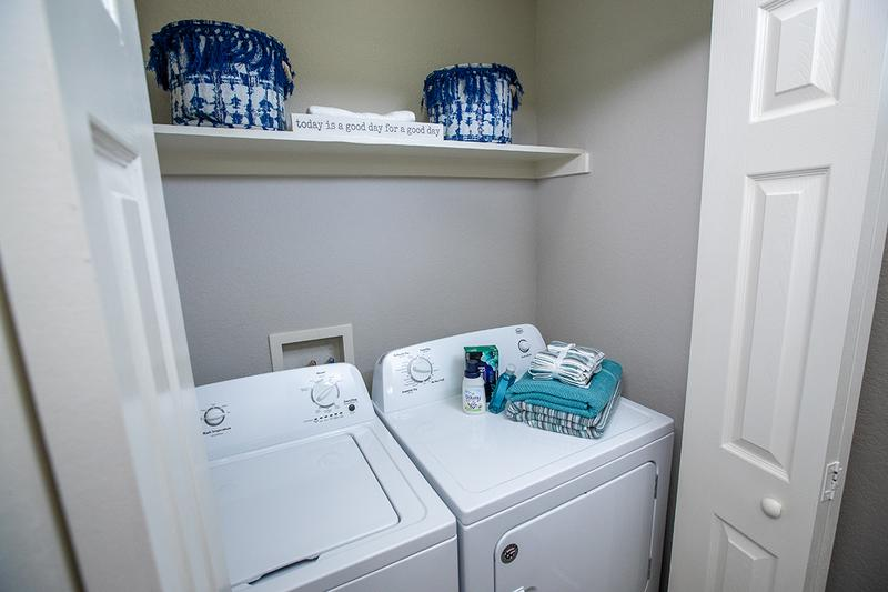 Washer & Dryer Included | Full size washer and dryer appliances are included in all apartment homes for your convenience.