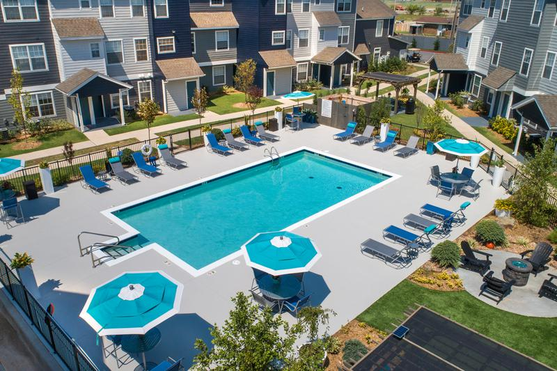 Aerial View of Pool | Be the talk of your friends when they hang by the pool.