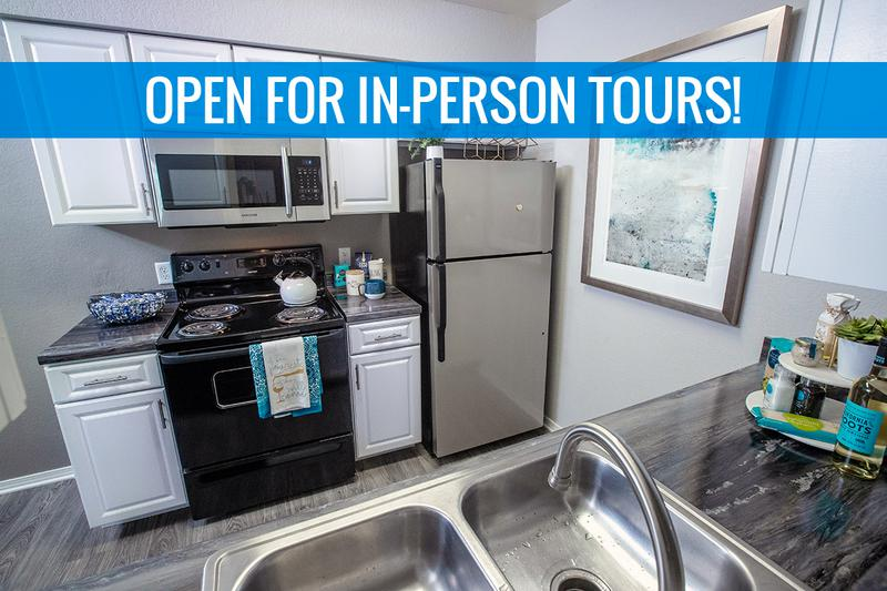 Renovated Kitchens | We are excited to offer in-person tours while following social distancing and we encourage all visitors to wear a face covering.