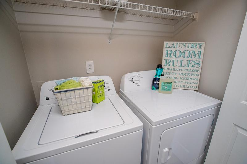 Washer/Dryer Included | All of our apartment homes feature full size washer and dryer appliances.