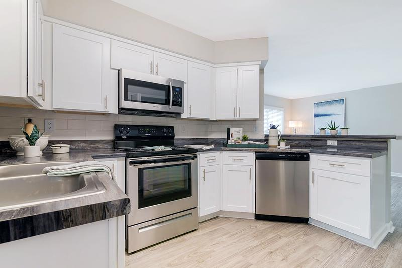 Stainless Steel Appliances | Kitchens feature stainless steel appliances.