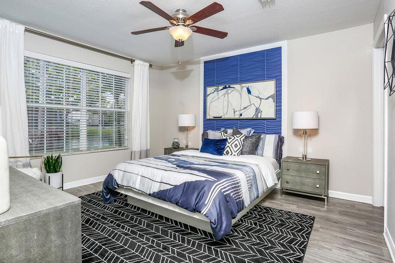 Master Bedroom | Master bedrooms featuring wood-style flooring, a walk-in closet, and a ceiling fan.