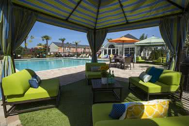 Poolside Cabana | Relax in the shade under the poolside cabana.