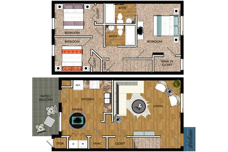 Apartment floor plans pricing legends at lake murray - 2 bedroom apartments columbia sc ...