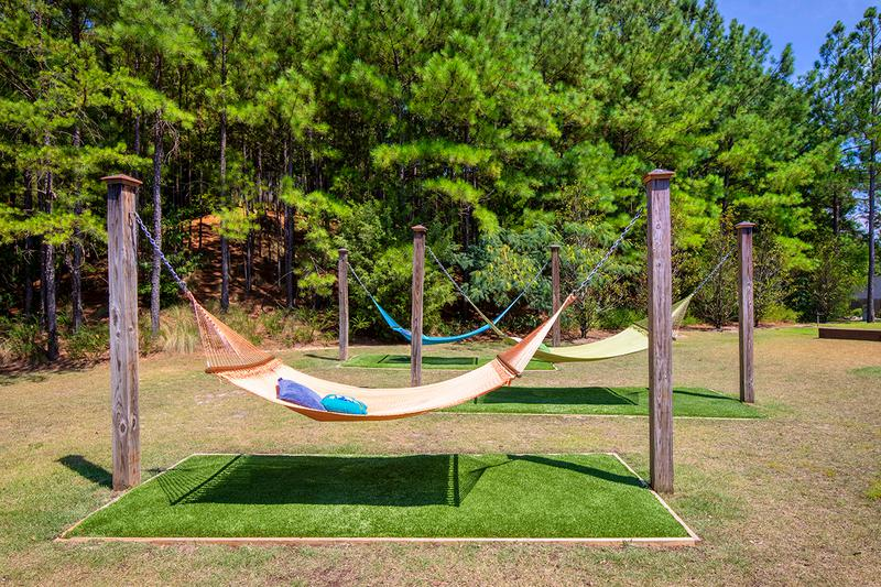 Hammock Garden | Soak in the sun and relax at our on-site hammock garden.