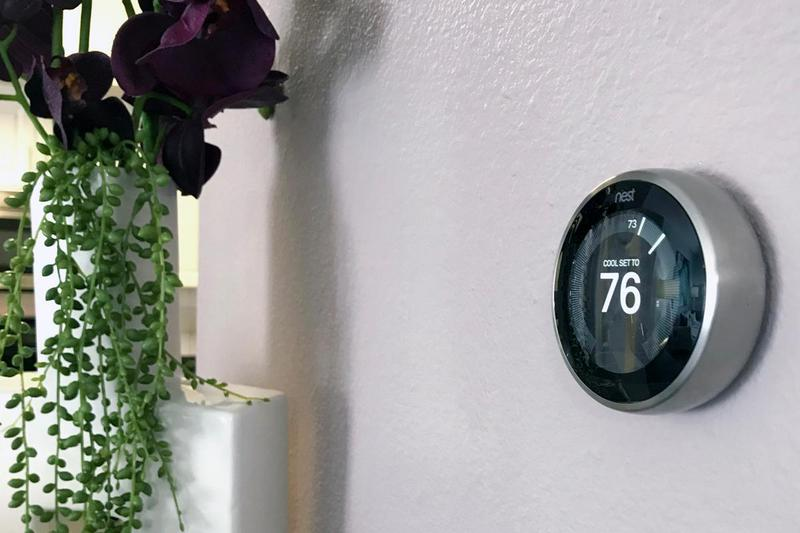 Nest Thermostats | Energy efficient Nest thermostat available in all apartment homes.