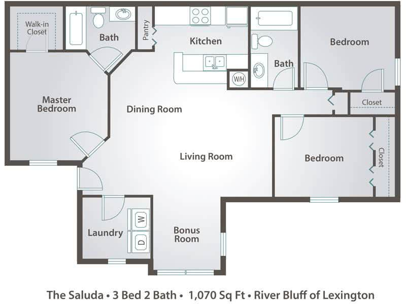 Bedroom Bathroom Floor Plans: River Bluff Of Lexington