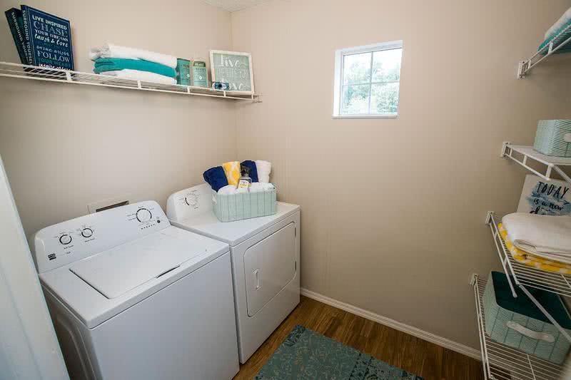 Laundry Room | Our apartment homes feature full size washer and dryer appliances for your convenience.