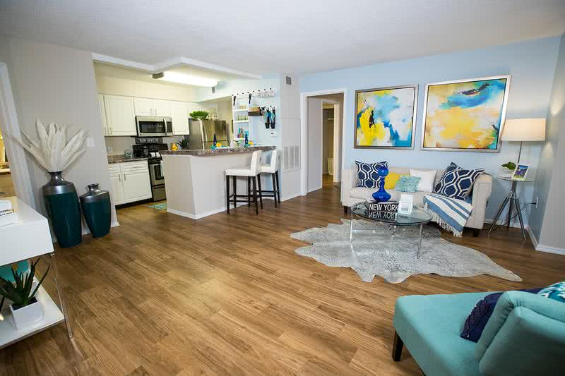Open Floor Plans | Our apartment homes feature spacious, open floor plan concepts.