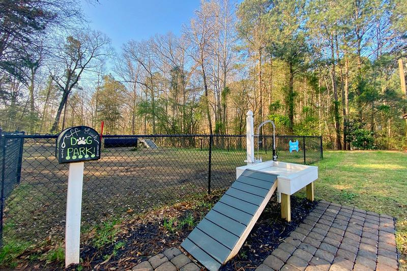 Dog Wash | Our dog park even features a dog wash for your convenience!