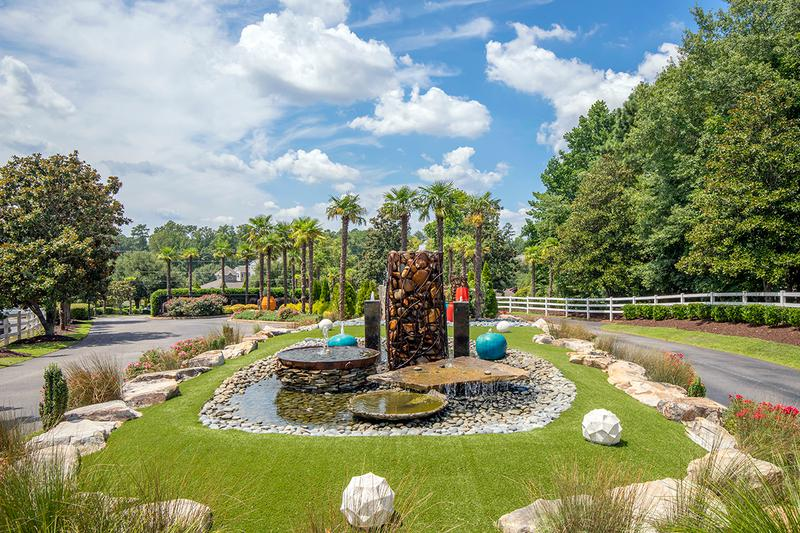 Fountain | Soak in the gorgeous landscaping around our fountain.
