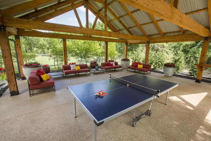 Pavilion | Residents can enjoy our pavilion featuring a ping pong table and plenty of seating under the shade.