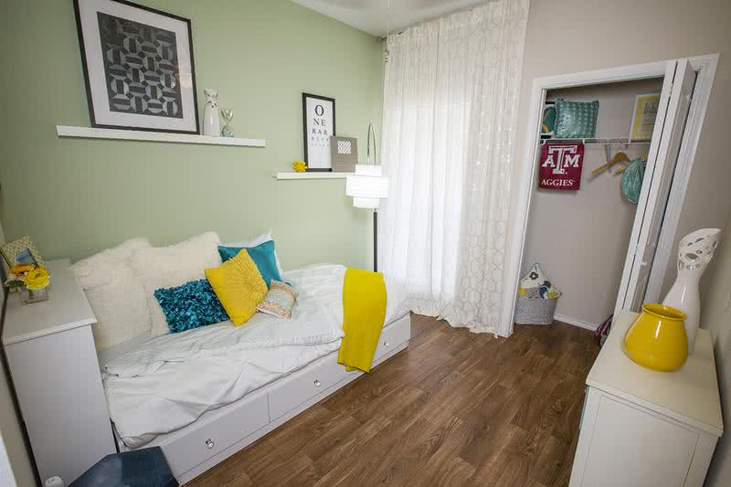 Guest Bedroom | Guest bedroom featuring wood-style flooring.