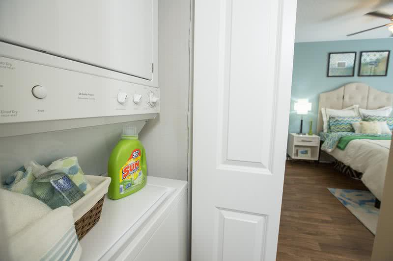 Laundry | Washer and dryer appliances included in every apartment home.