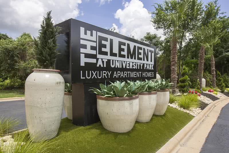 Entrance | Welcome home to The Element at University Park, our friendly staff is waiting to help you find your next home!